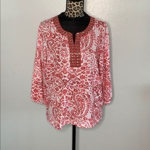 Cathy Daniels top Size Large